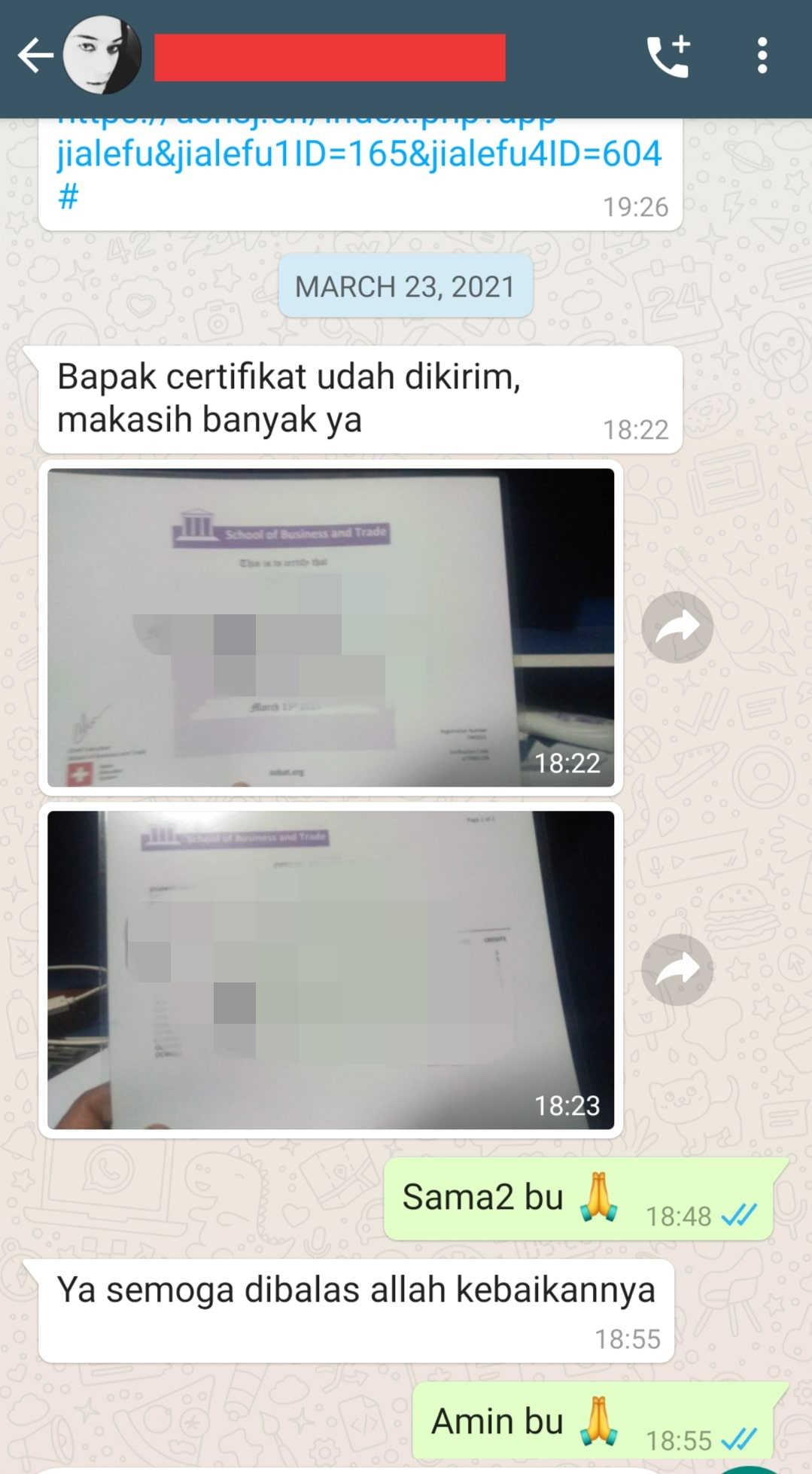 testimoni pembelian sertifikat