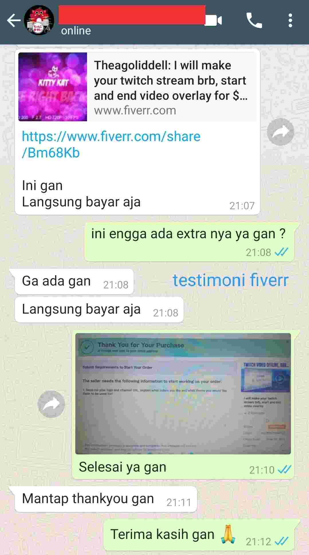 testimonial fiverr