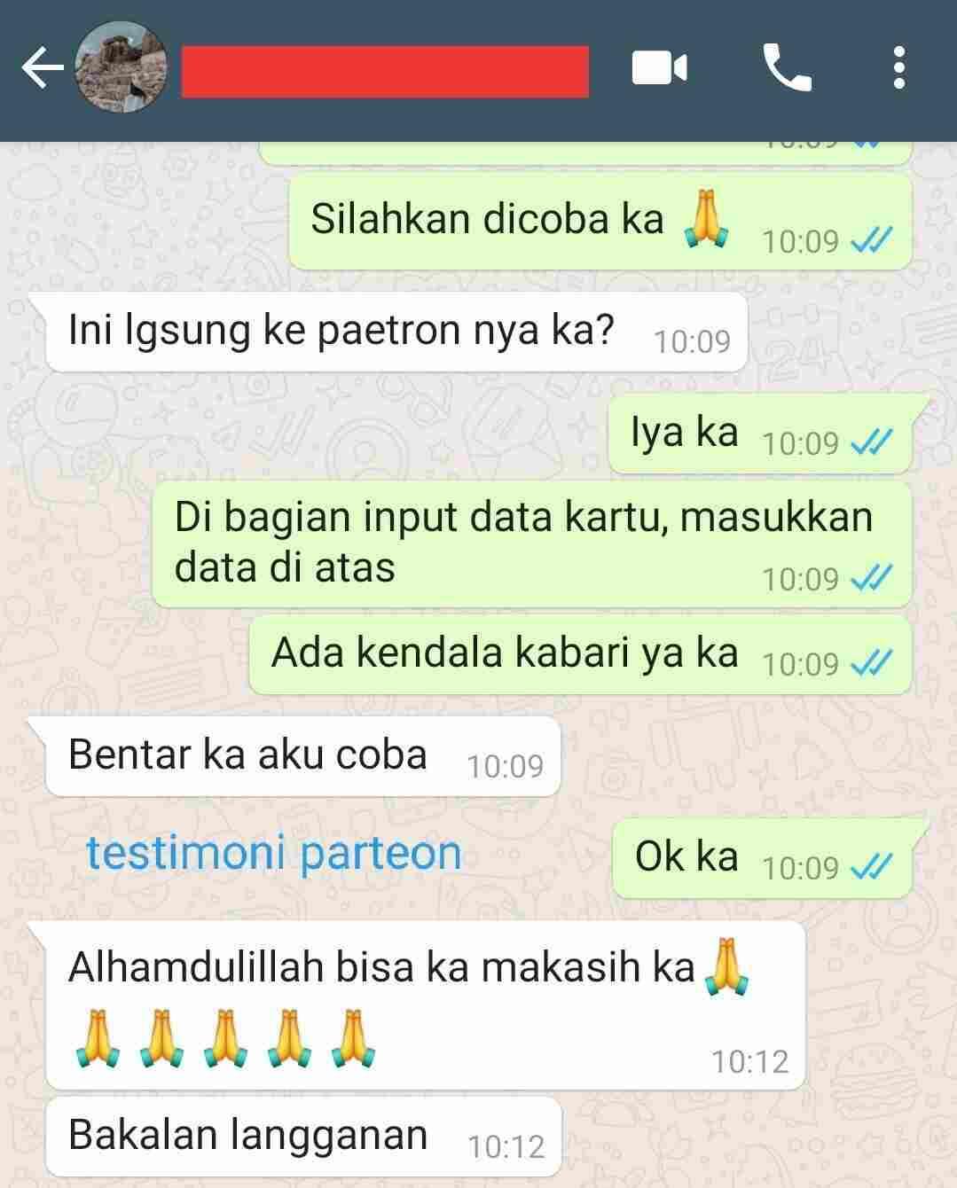 testimonial patreon